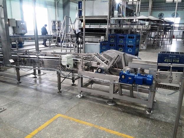 Phương án cải tạo máy lật két trong dây chuyền chiết bia chai hãng Krones, KHS